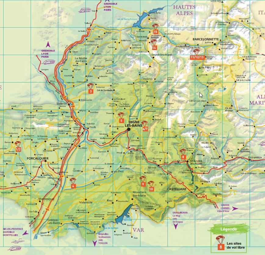 Infos sur carte touristique des alpes arts et voyages for Carte touristique