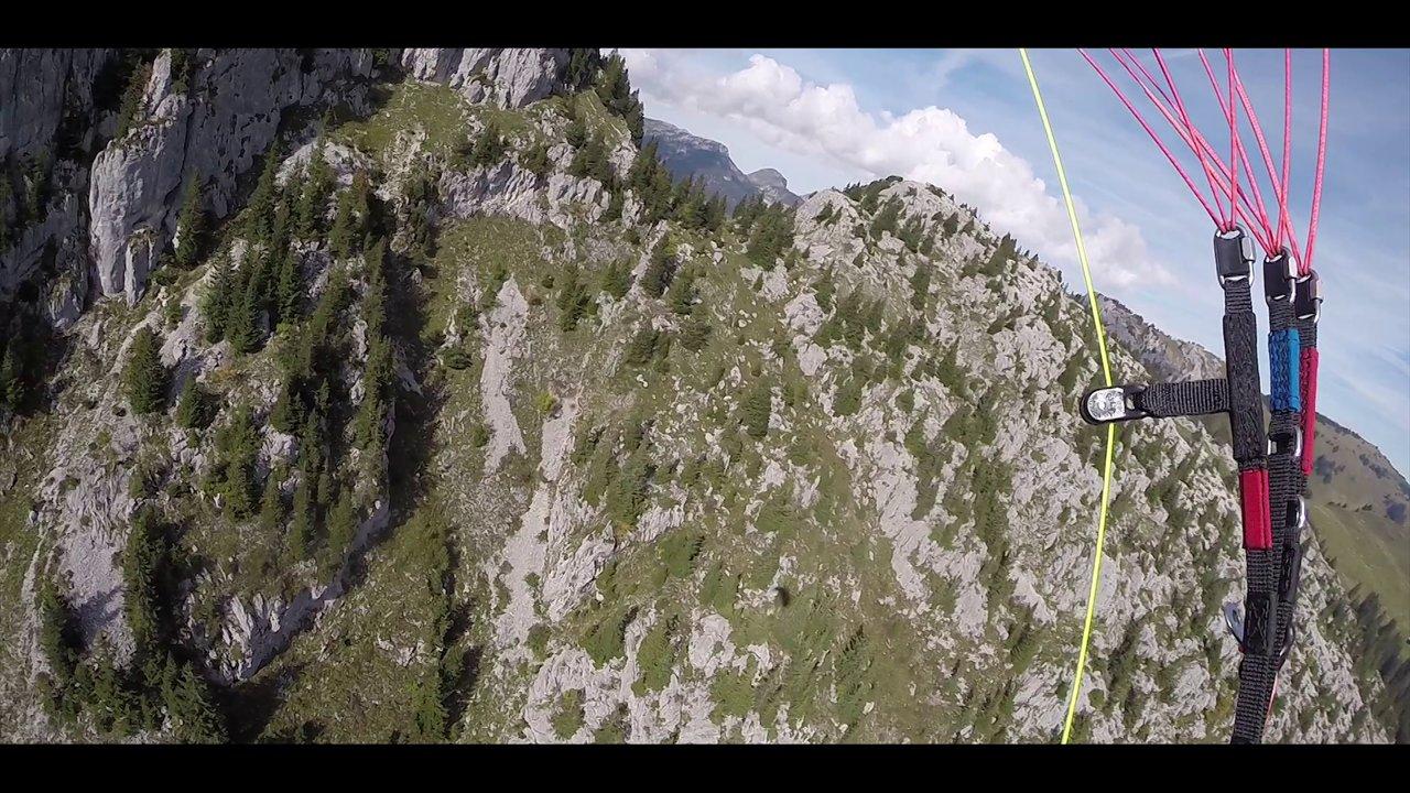 Rando vol en Spiruline au pic de Jalouvre (74)