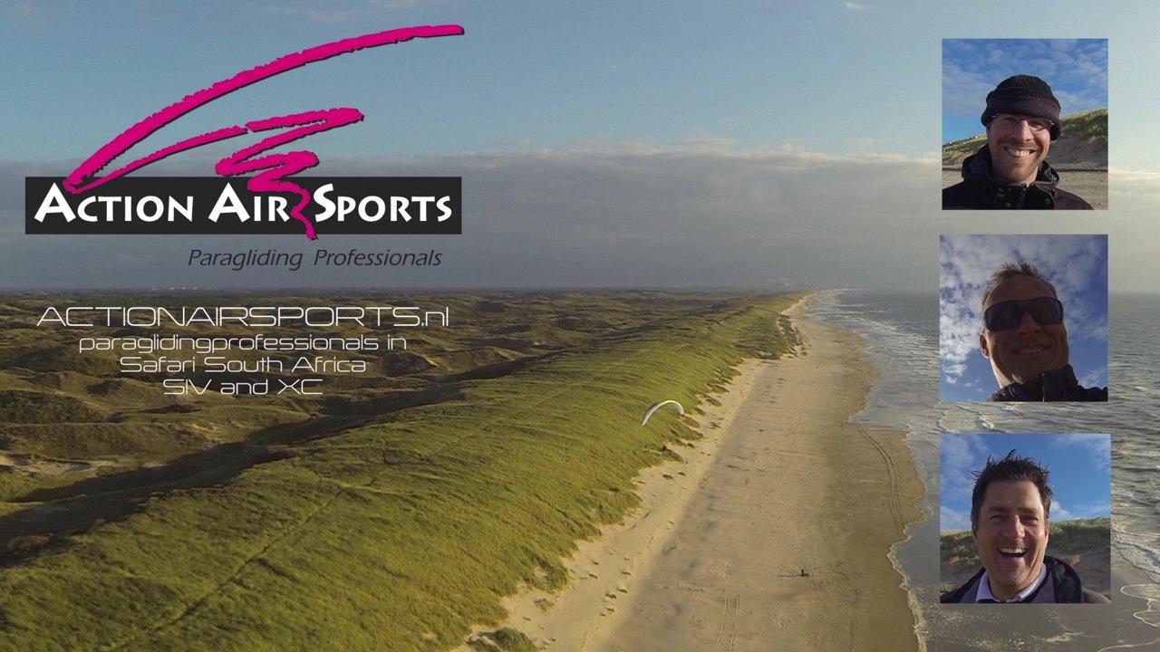Douceurs d'un soaring le long des dunes néerlandaises