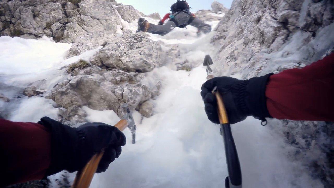 Ascension et descente mini-aile du sommet Triglav (Slovénie)