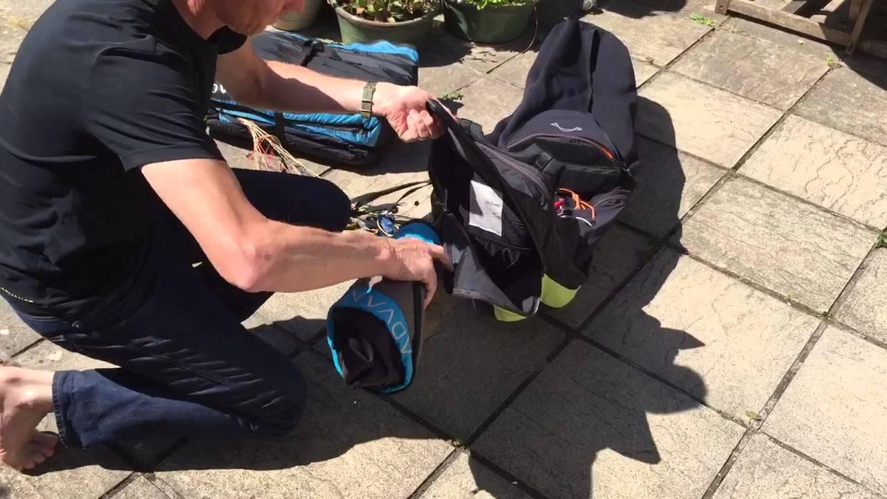 Comment faire un pliage très compact du sac de transport parapente?