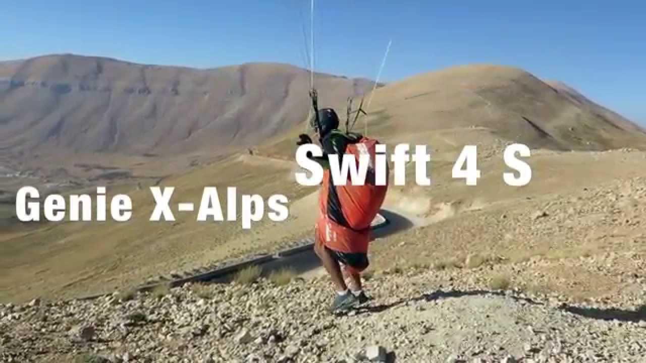 L'aile OZONE Swift 4 avec la sellette GIN Genie Race X-Alps