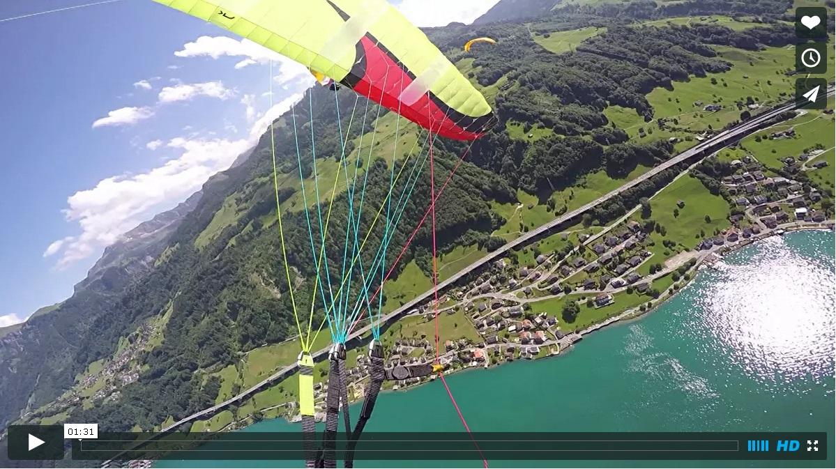 vidéo parachute secours urs Estermann