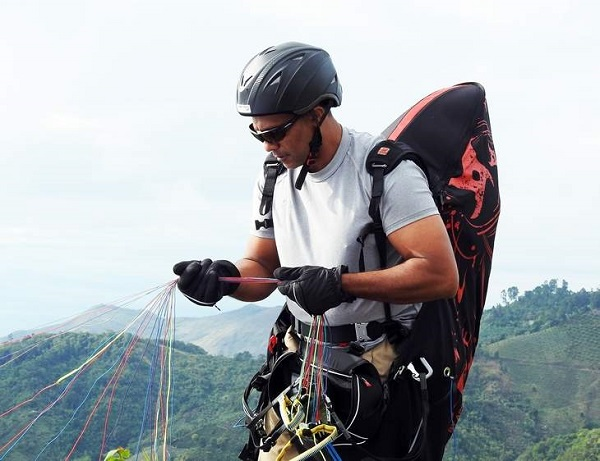 Marc Ramlal walks away unscathed after 2500m freefall