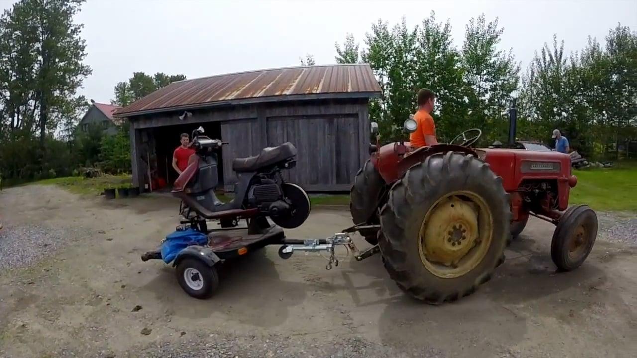 Un scooter transformé en treuil parapente