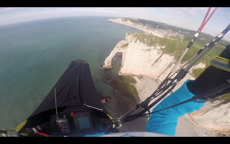 Cross parapente de bord de mer d'Octeville à Etretat (22 km)