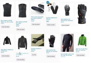 Vestes, gants et semelles chauffants pour voler bien au chaud