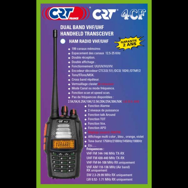 radio CRT 4 CF VHF UHF