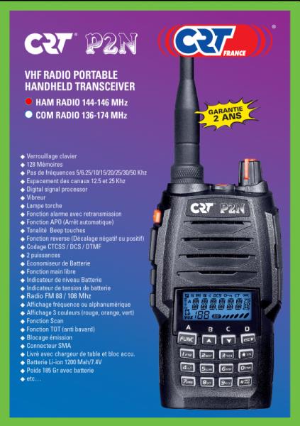 radio crt-p2n-ham-talky-walky-radio-amateur-vhf