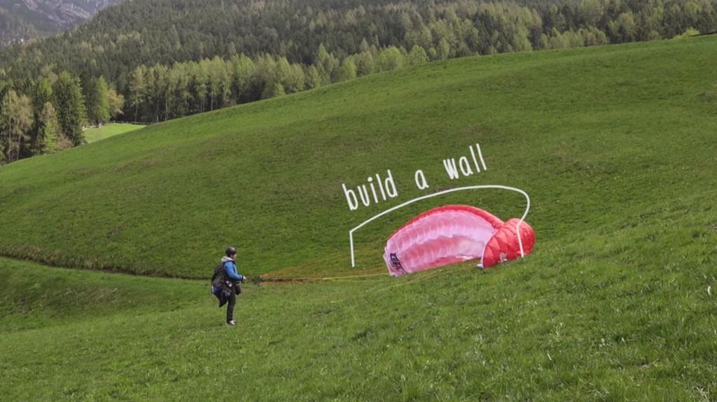 gonflage face voile construire un mur