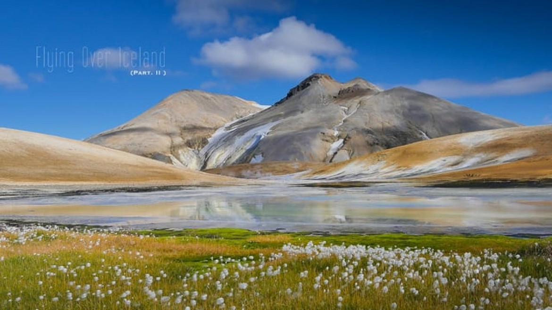 Highlands et terres intérieures d'Islande vus du ciel