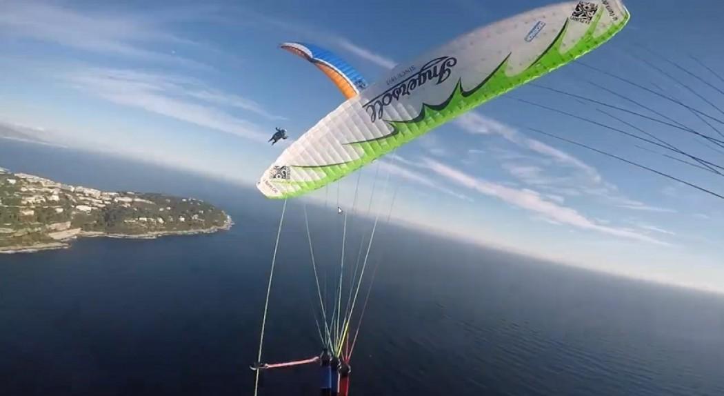 Entraînement vol synchro de Florent et Laurent à Roquebrune
