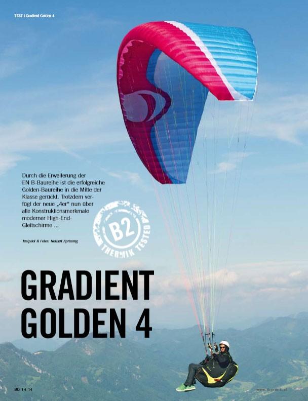 Test Parapente Gradient Golden