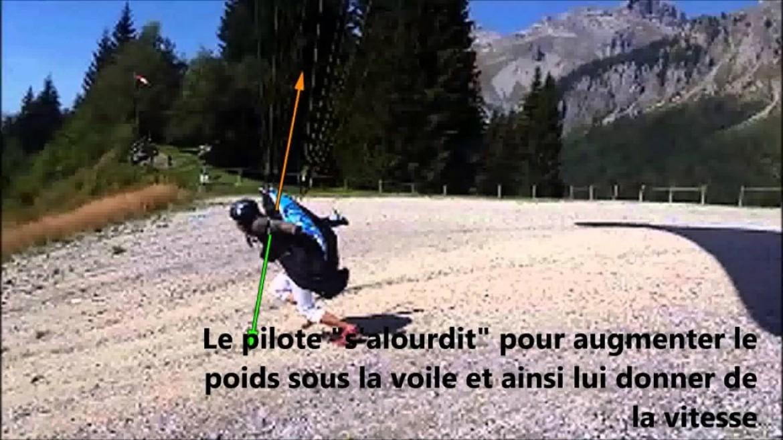 Apprendre le parapente : l'appui ventral au décollage