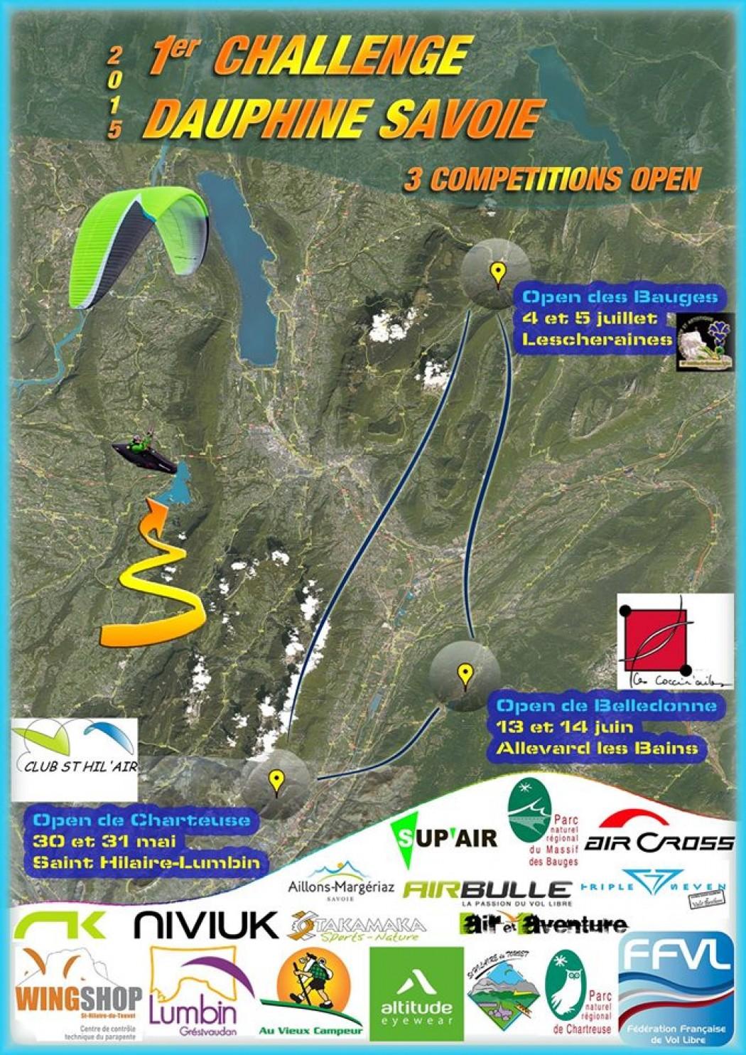 Le Challenge Dauphiné Savoie 2015, 3 compétitions dans 3 massifs