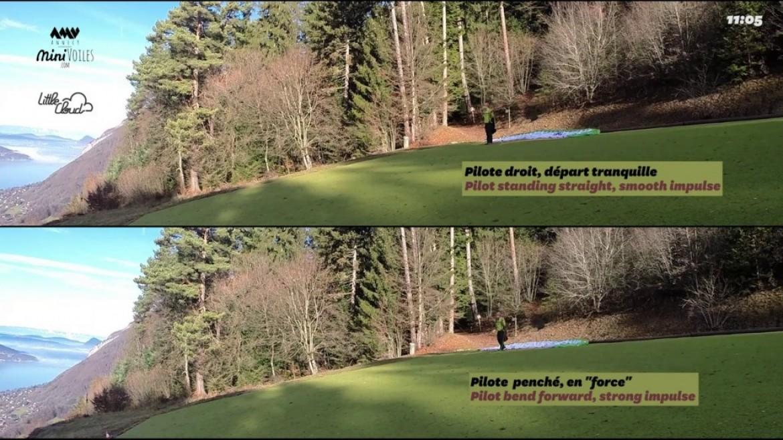 Gonflage dos voile : comparaison entre bons et mauvais gestes