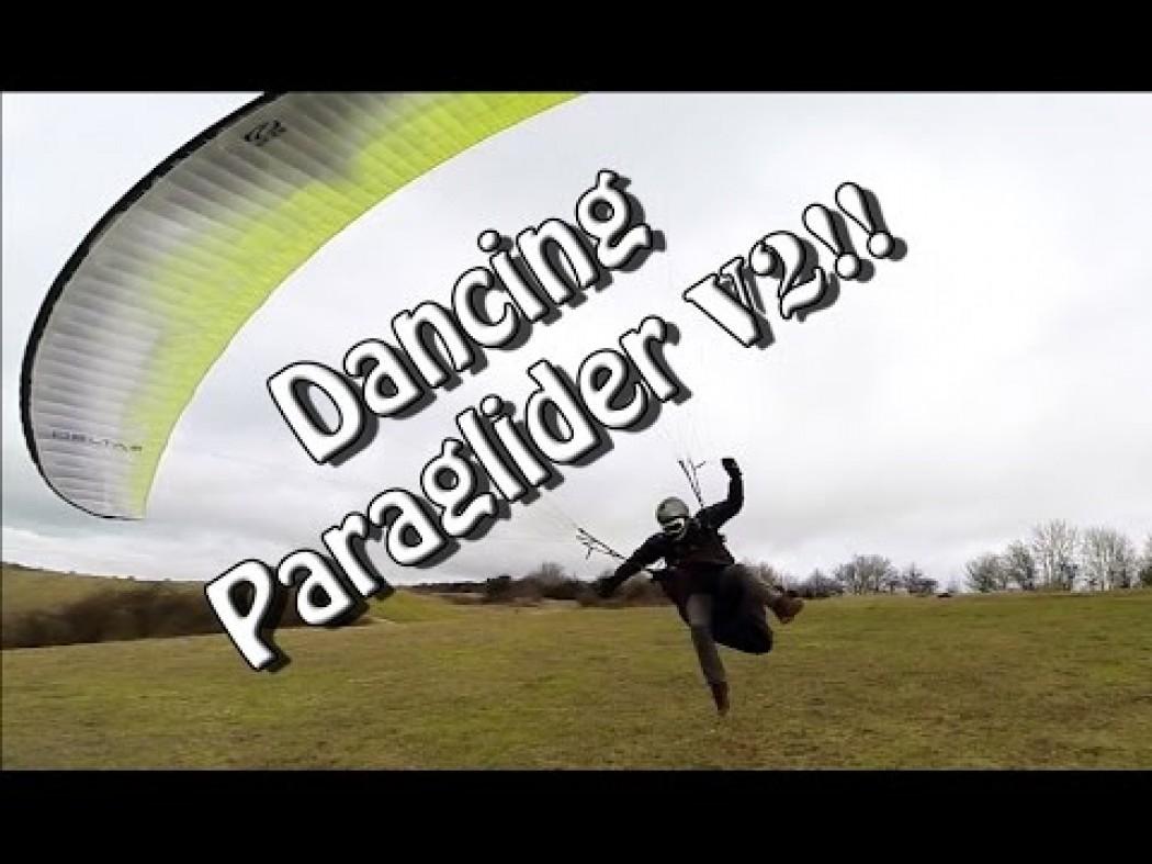 «Dancing paraglider», le ballet de Chai sur un déco