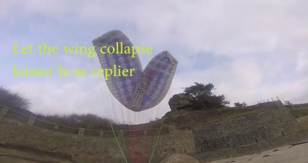 Petit tuto gonflage parapente : montée de voile en crevette
