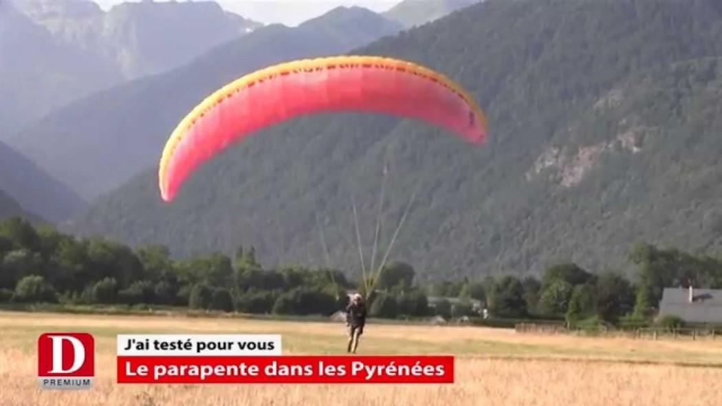 La Dépêche a testé le parapente dans les Pyrénées (Luchon)