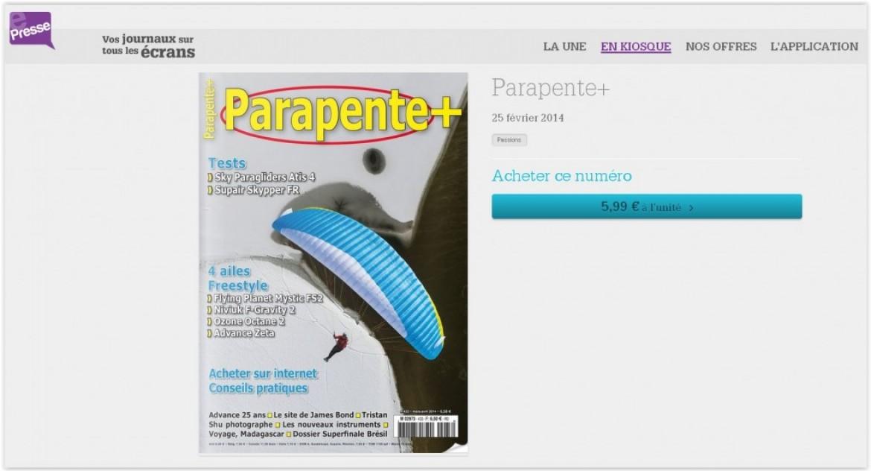 Parapente+ sur votre tablette ou votre mobile