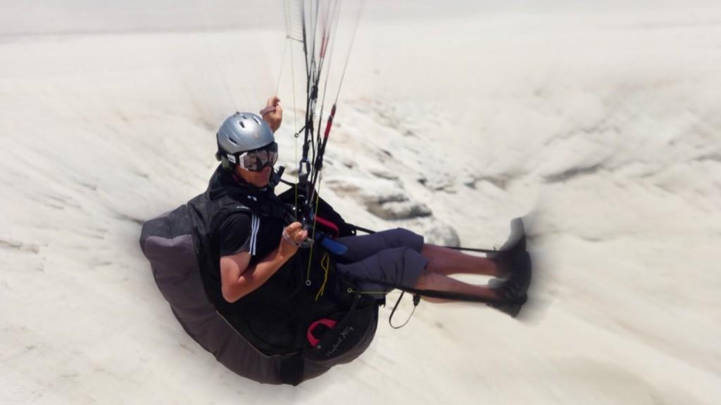 Partir voler en parapente au Chili avec Joel Favre
