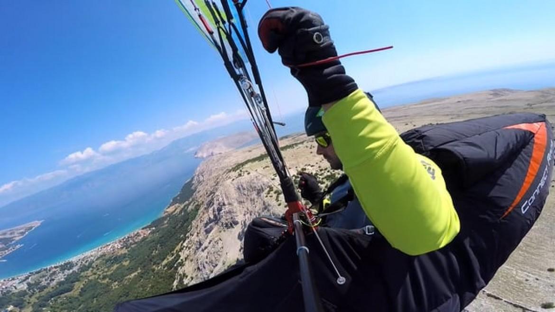 Vol de rêve en parapente à Baška sur l'ïle de Krk (Croatie)