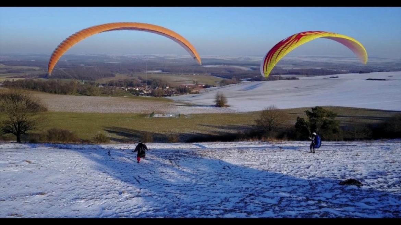 Vol calme hivernal de 2 pilotes à Lorry Mardigny (Moselle)