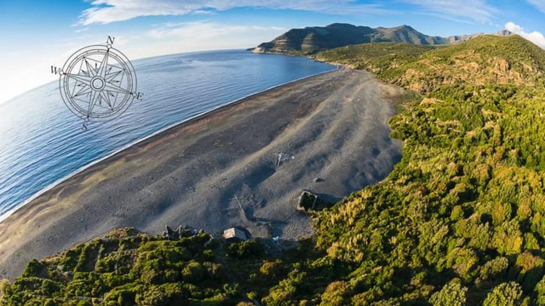Vol parapente sur le site Nonza Pointe de Solaru (Corse)