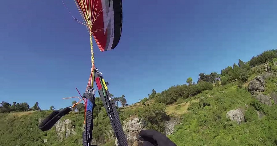 Mutiple twists after collision with an obstacle close to the terrain
