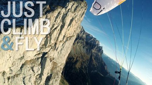 "Vertical ascent & fly ""combo"" at the Pilier Croix de Fer France"