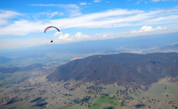 Competing in paragliding without a Penis