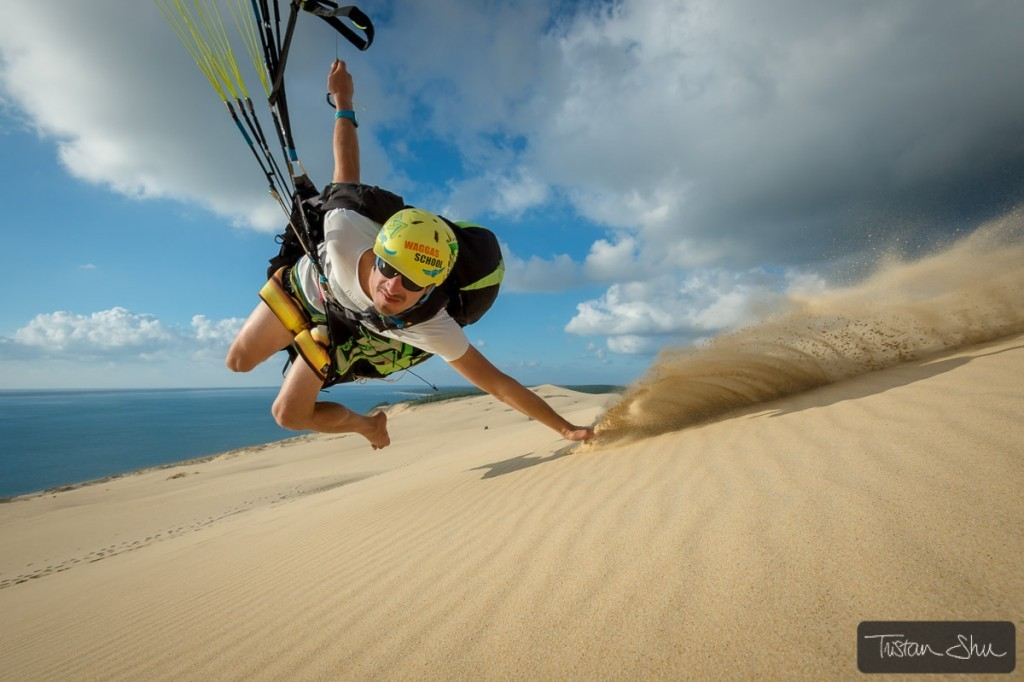 Waggas School teaches you high-wind canopy control at Dune du Pyla
