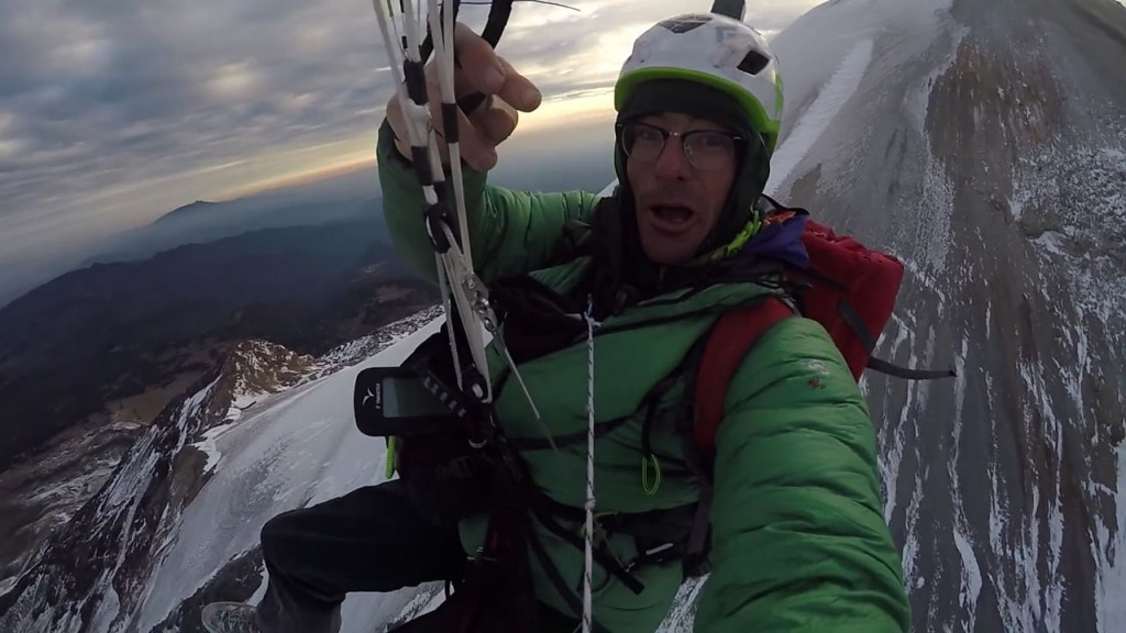 Cedar Wright and Matt Segal fly the highest peak in Mexico