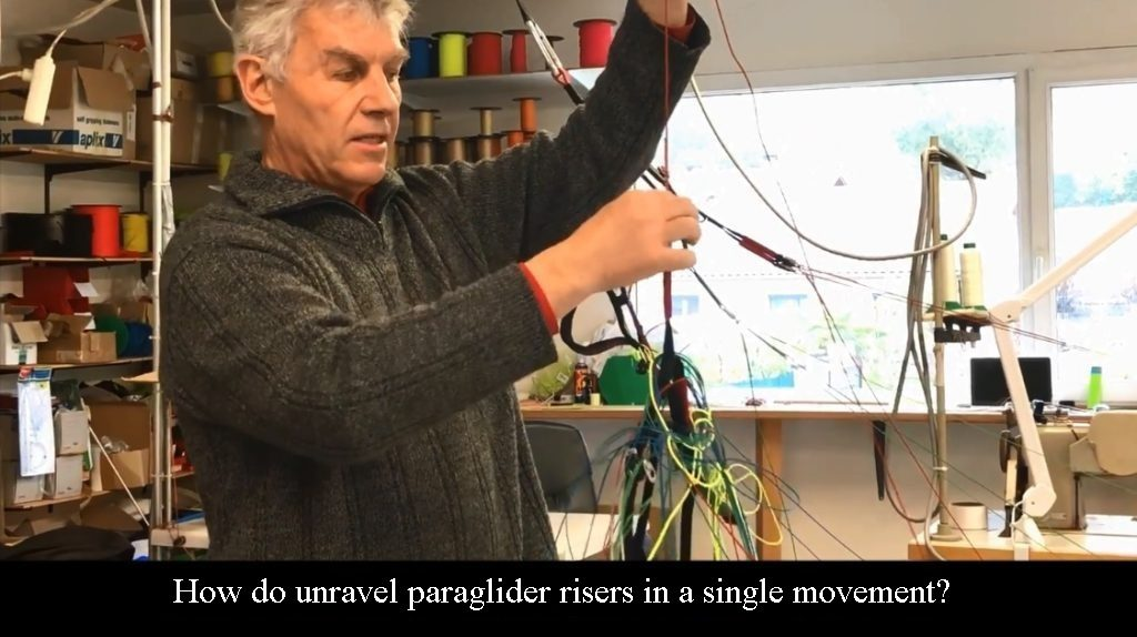 Xavier's trick for unraveling paraglider risers in a single movement !