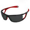 lunettes soleil parapente Ultimate-noir-rouge-polarisant