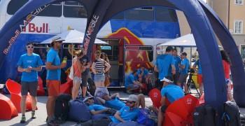 couv Red Bull pre race tent Salzburg