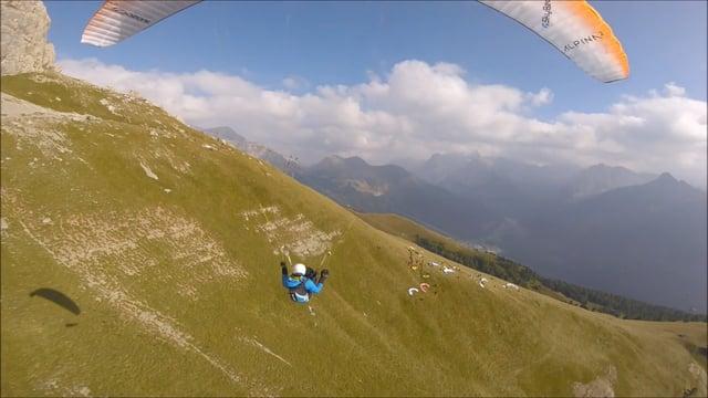 Dolomites avec la caméra suiveuse Skybean