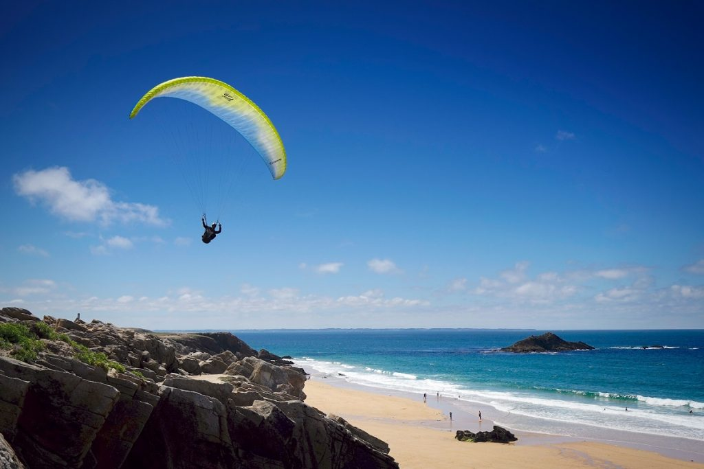 soaring parapente bord de mer