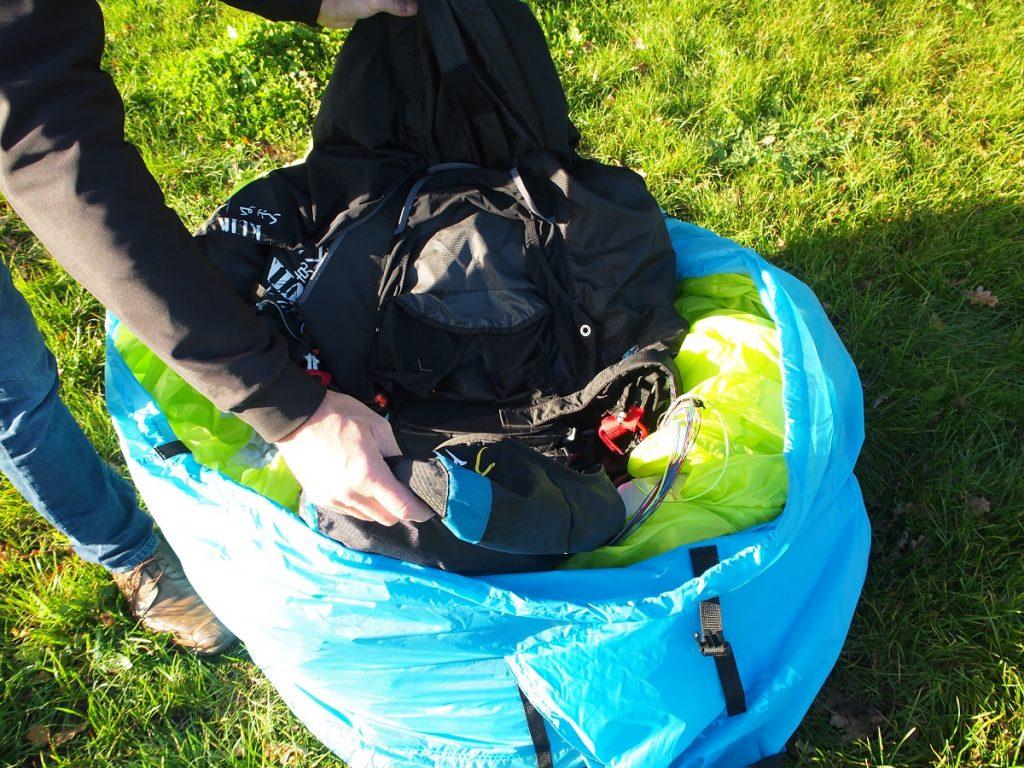 Sac parapente Fast Pack, sac rapide et de portage aile+sellette très léger