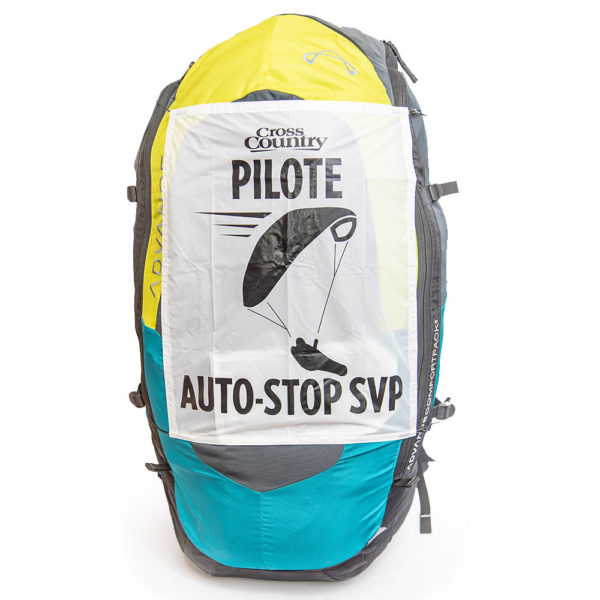 Panneau auto stop parapente sac
