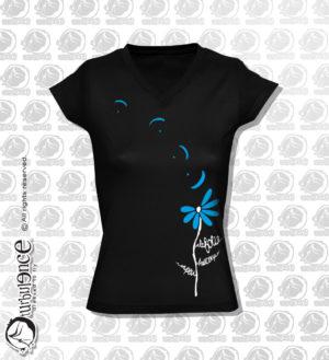 T-shirt parapente A LA FOLIE NOIR F07