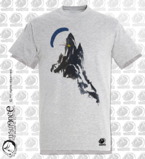 T-shirt parapente RECYCL BLANC CHINE H44