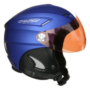casque parapente charly loop bleu + visière