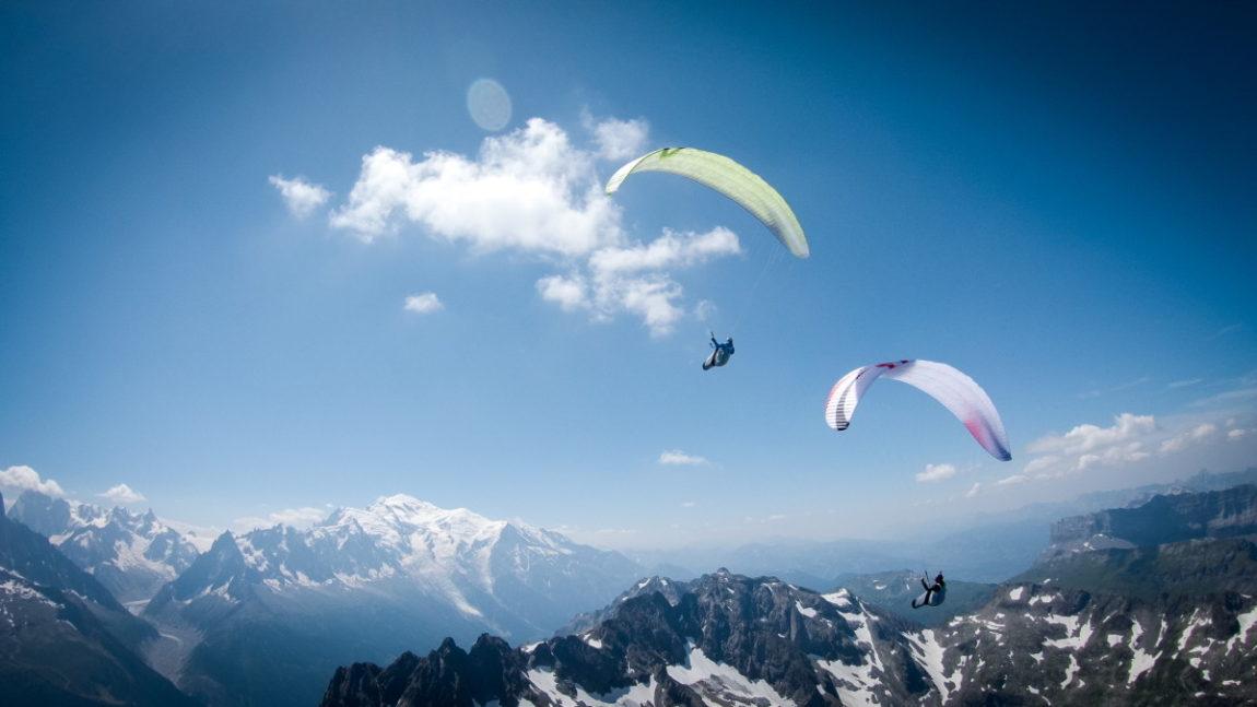 Le team Fly the Alps en vol