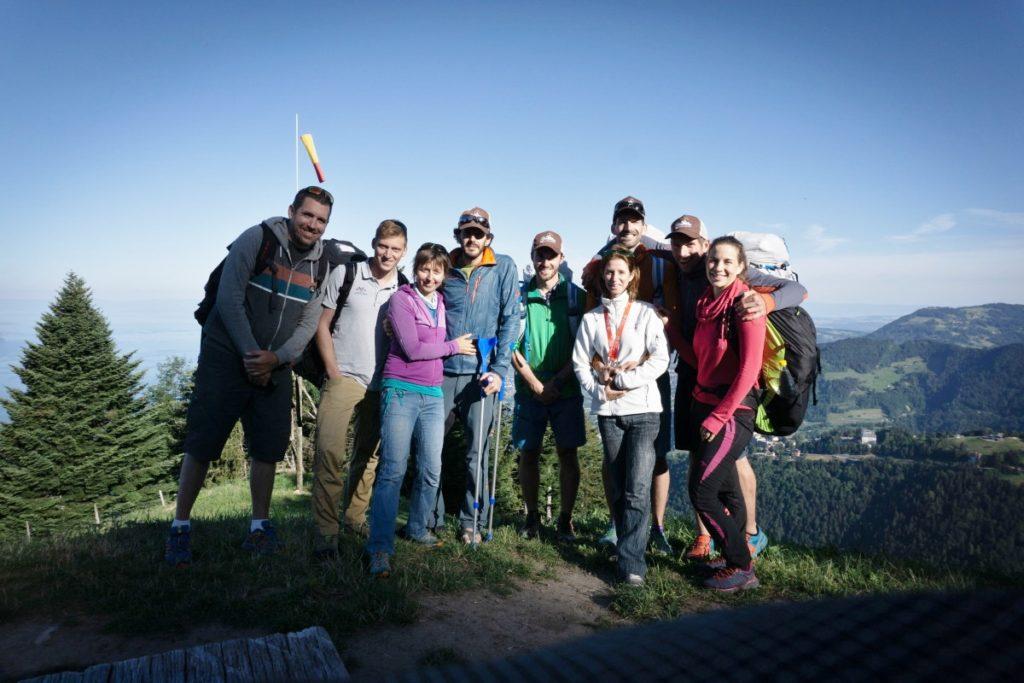 Le team Fly the Alps