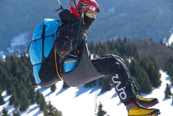Sellette Crux Sky paragliders côté