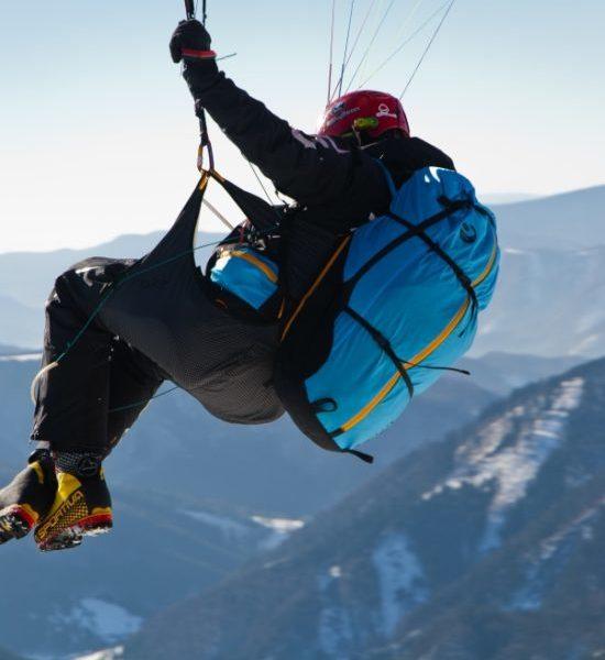 Sellette Crux Sky paragliders en vol 2