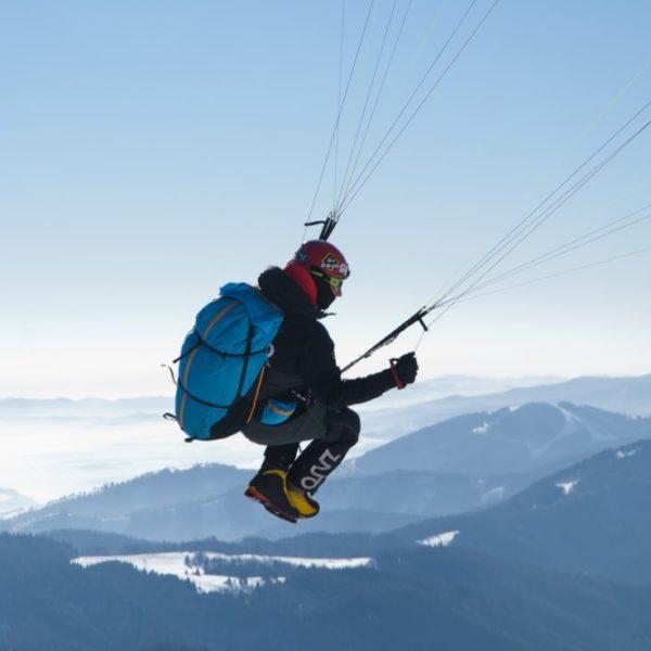 Sellette Crux Sky paragliders en vol