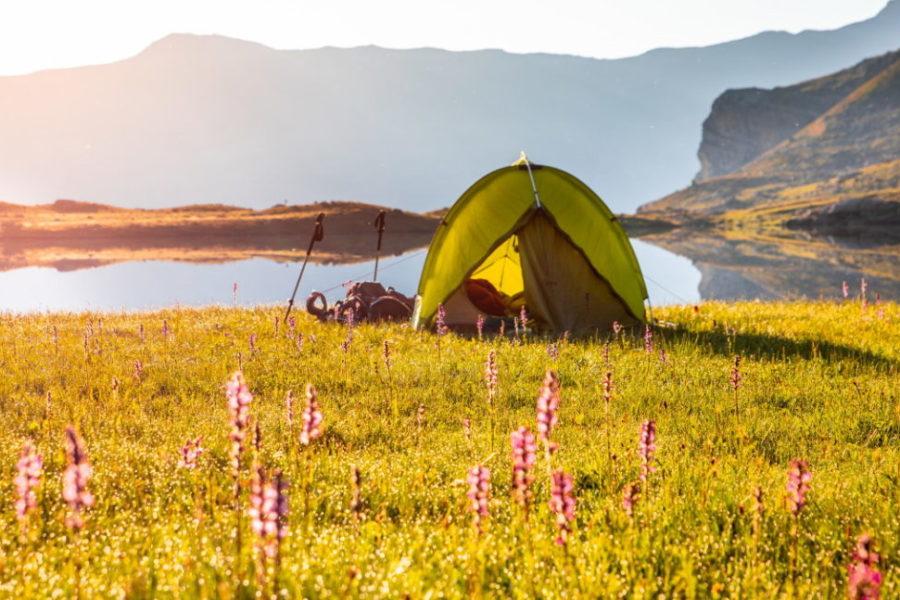 Bivouac au lac Faravel ©Thibaut BLAIS