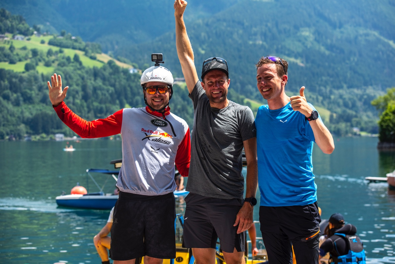Patrick von Känel, Chrigel Maurer et Simon Oberrauner (de gauche à droite) ont atteint Zell am See © zoom / Christian Lorenz
